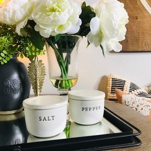 Hearth and hand salt & pepper Canisters